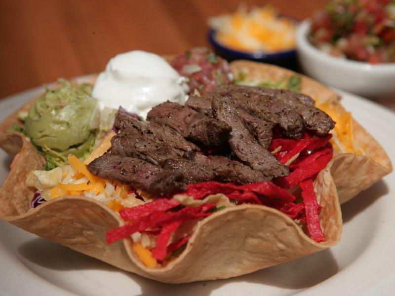 Beef taco salad