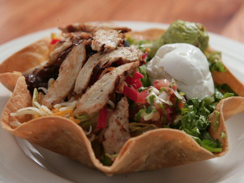 Taco checken salad